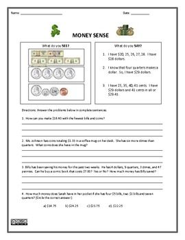money worksheets money sense and making change school work and learning at home money. Black Bedroom Furniture Sets. Home Design Ideas