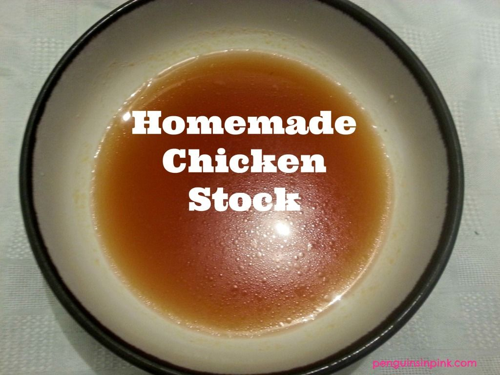 Homemade Chicken Stock - a slow cooked, rich, aromatic and full of flavor, vitamins and minerals homemade chicken stock.  A great base to soups, stews, and many other recipes.