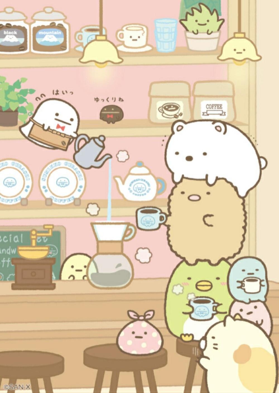 kawaii cafe illustration Google Search Cute art