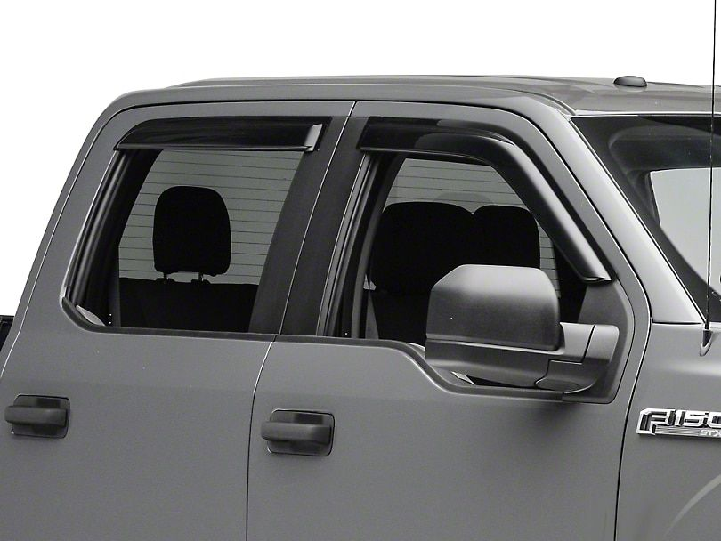 Smoke Rain Guards Front Rear 15 20 F 150 Supercab Supercrew
