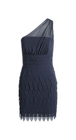 One Shoulder Chiffon Kleid | Mode, Das kleine schwarze ...