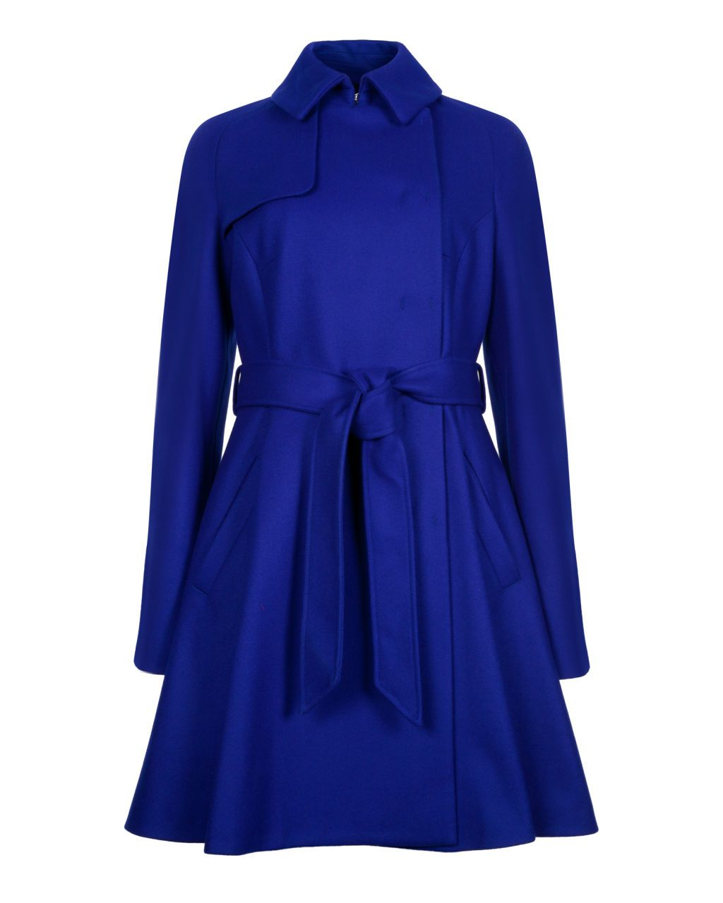 bd2a1b9d8 Wool trench coat - Bright Blue