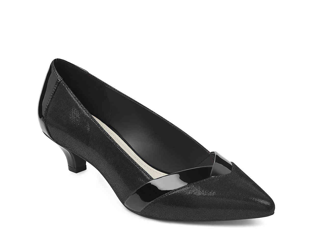 Anne Klein Maureen Pump Women S Shoes Dsw Black Pumps Low Heel Women Shoes Kitten Heel Pumps