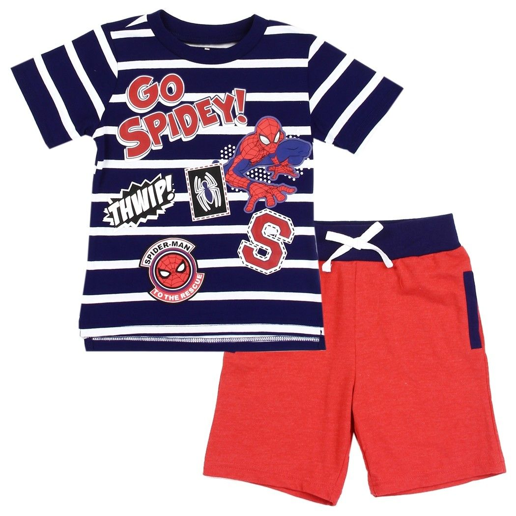 Marvel Comics Spider Man Go Spidey Toddler Boys Short Set | Kids fashion  clothes, Toddler boy outfits, Little boy outfits
