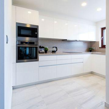 Fotos de cocinas Diseños de cocinas en L, blancas, pequeñas