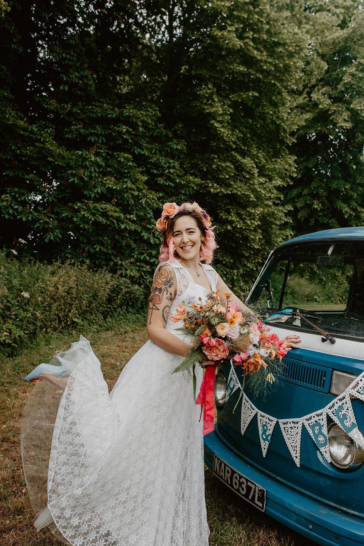 Lace detail wedding dress · Rock n Roll Bride   Festival wedding ...