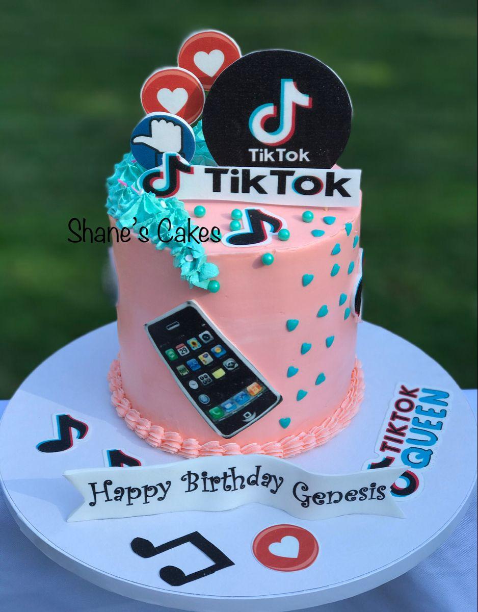 Tiktok Birthday Cake Cute Birthday Cakes Unique Birthday Cakes 12th Birthday Cake