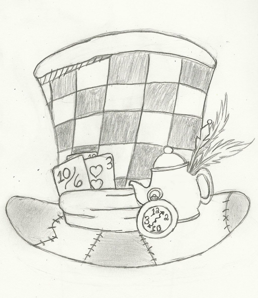 6cc47daaed3 Image result for mad hatter hat pattern Mad Hatter Drawing