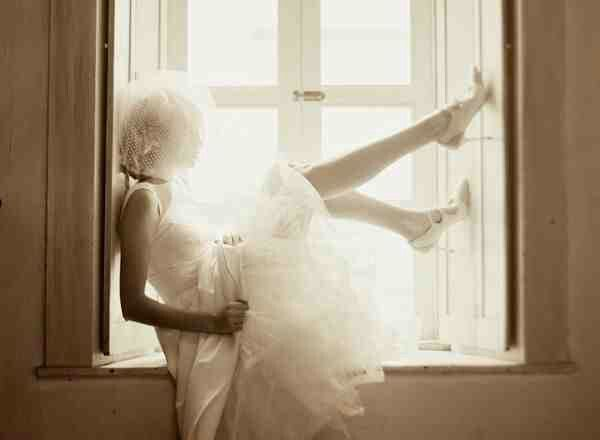 Must for my wedding! In my dress by the window