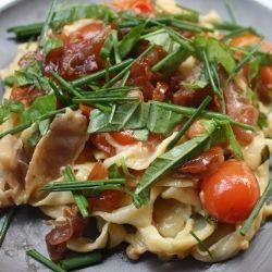 Home made Pasta with Prosciutto Cream Sauce - a bite of heaven for sure