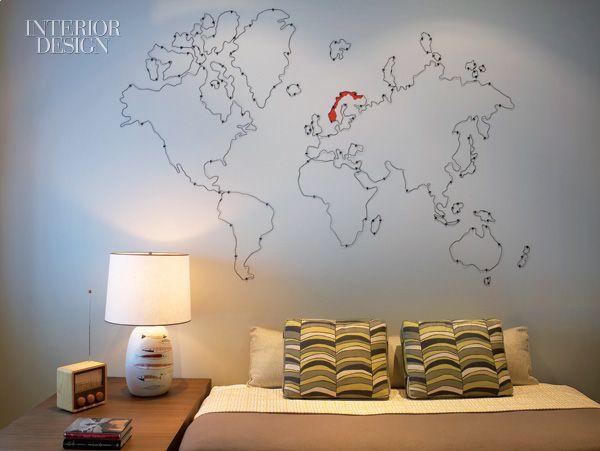 Bronze wire map matthew northridge inspiration pinterest soho loft by shamir shah design gumiabroncs Image collections