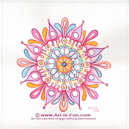 Tutorial On How To Draw Your Own Mandala. Also Some Free Downloads