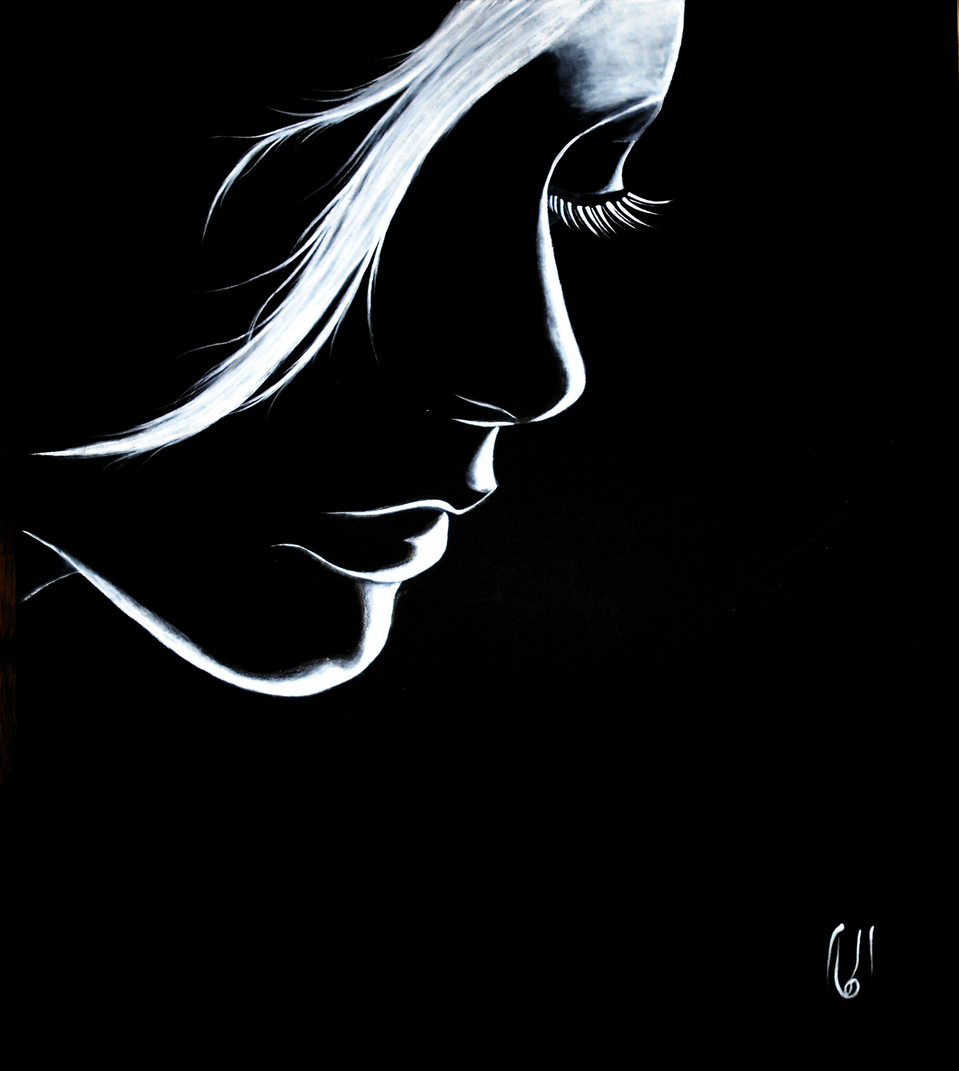 Acrylic On Board By Elham Rafiei Dessin Crayon Blanc Et Dessin