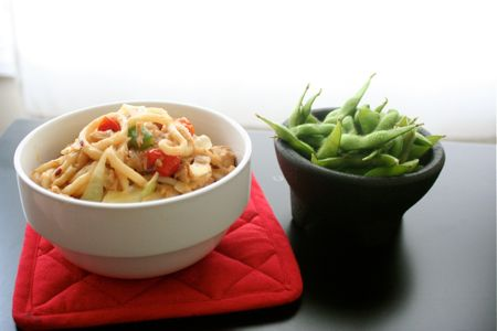 Pan fried Udon Noodles by my homegirl Mel