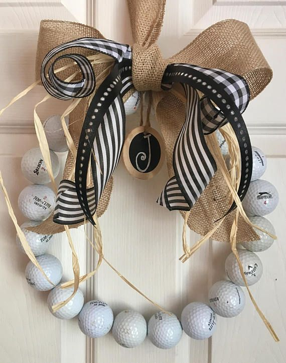Golf Wreath with initial