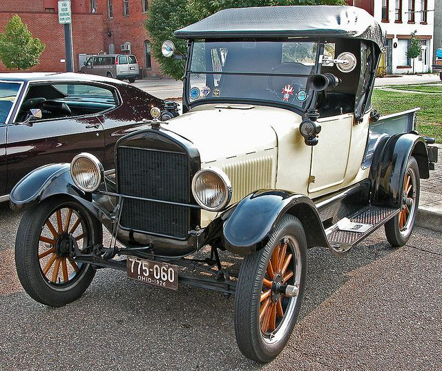 Small Ford Truck: 1926 Ford Model-T. Model Ts Have Wooden-spoke Wheels