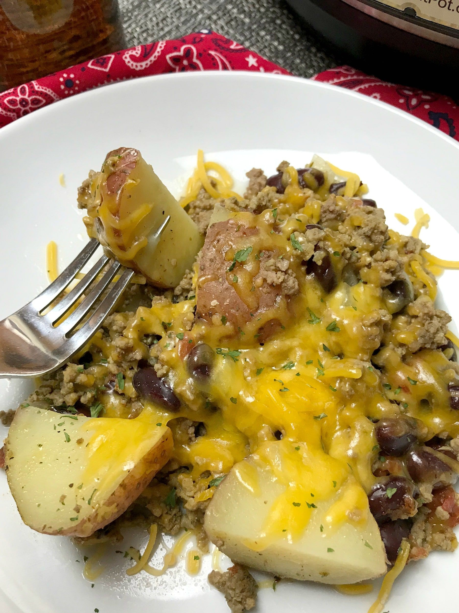 Instant Pot Cowboy Casserole Is The Perfect Meat And Potatoes Meal Any Cowboy For Hungry Person Will Instant Pot Dinner Recipes Instant Pot Recipes Pot Recipes
