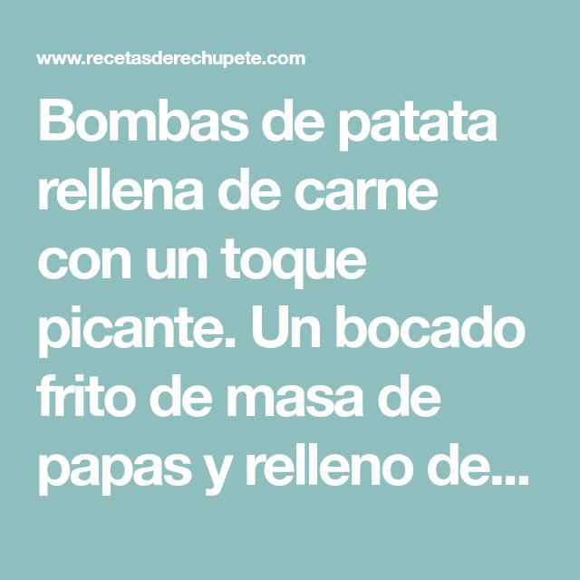 Bombas de patata y carne
