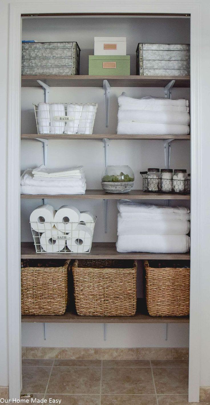 Photo of Bathroom Linen Closet Reveal – Our Home Made Easy
