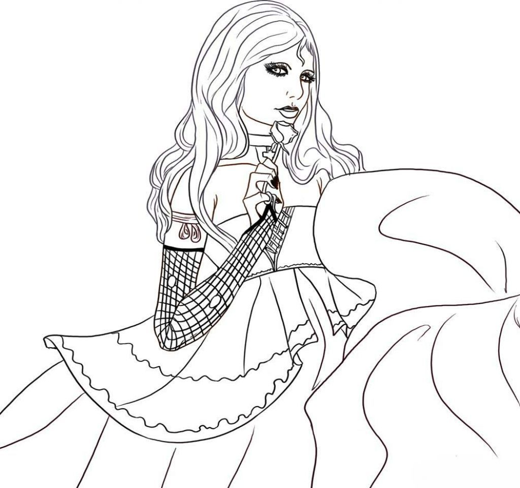 Girl Vampire Coloring Pages Princess Coloring Pages Princess Coloring Coloring Pages For Girls