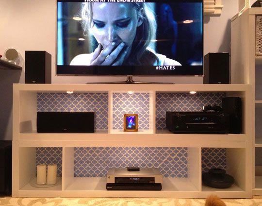 Sarah S Simple Yet Stylish Ikea Hack N Stack Tv Stand Ikea Tv