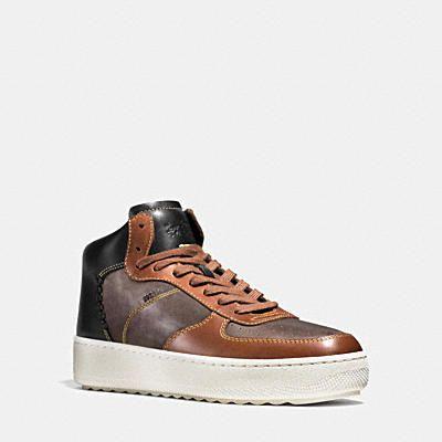 men's new arrivals  high top sneakers coach boots coach