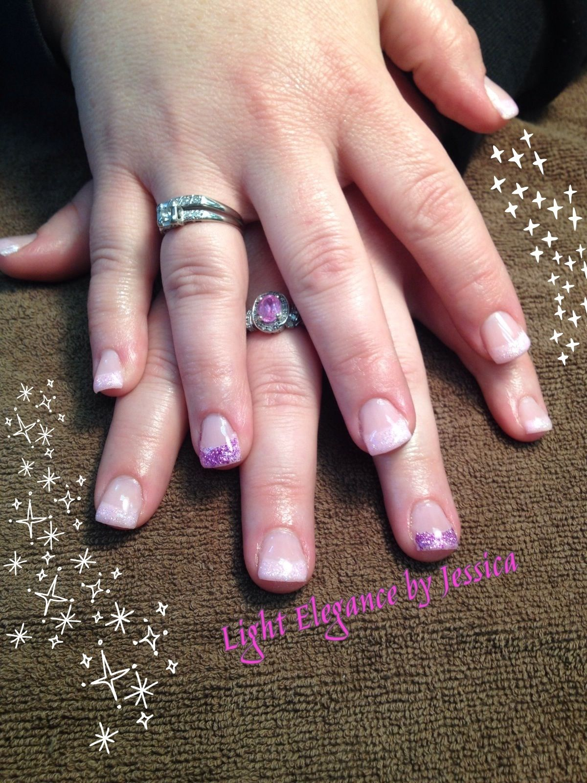 Light Elegance gel nails. A nice simple baby pink French with a ...