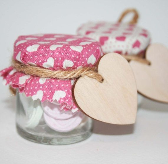 Loveheart Wedding Favours Dusky Pink Heart Fabric Or By Melyshoney