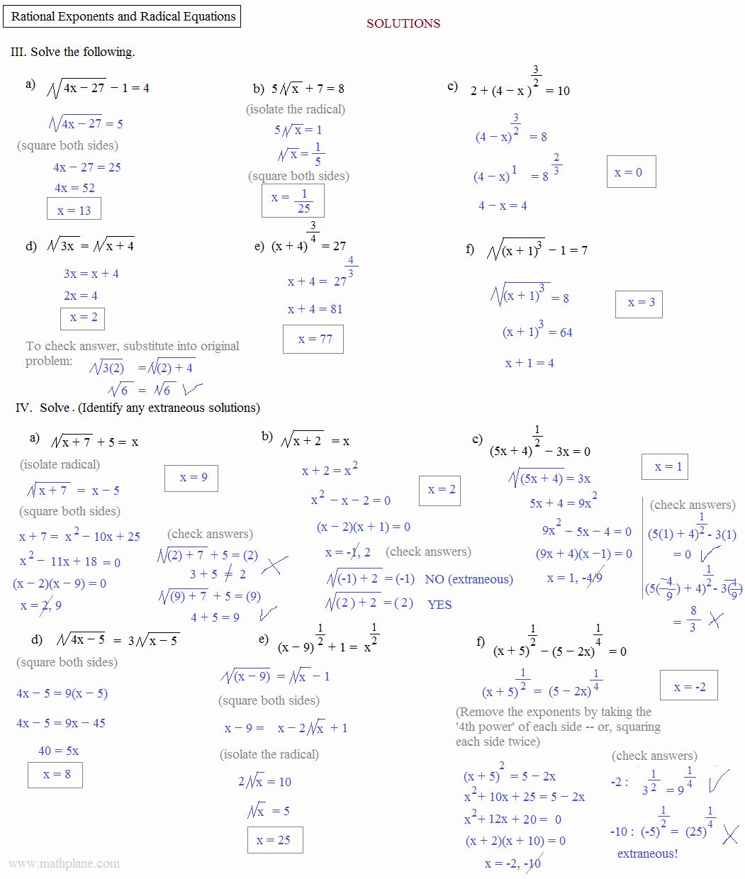 Simplifying Radical Expressions Worksheet Answers Fresh Simplifying Radical Expressions W In 2020 Radical Equations Exponent Worksheets Simplifying Radical Expressions