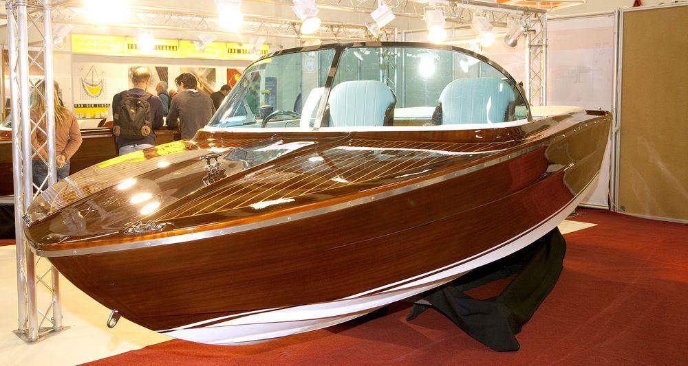 Nostalgia 510 Motor Holz Sport Mahagoni Optik Boot Motorboote Bootsbau Boote