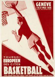 Genève - 2eme tournoi Européen des cités - Basketball - 1936