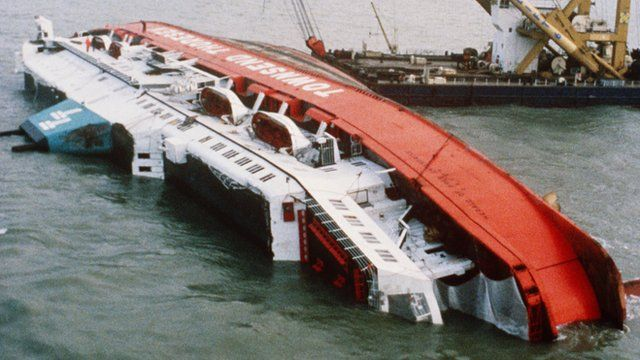 March 6, 1987 the Herald of Free Enterprise, roll on car ferry capsizes and sinks in Holland. 193 people died because a crew member did not close the bow doors properly and water slopped into the ship and it's side to side movement caused it to roll. The entire thing took only 90 seconds. Passengers were trapped on board in freezing temps. Many, if not most, who died died of hypothermia. Rescue efforts were immediate and courageous but just not quick enough to save many trapped and they…