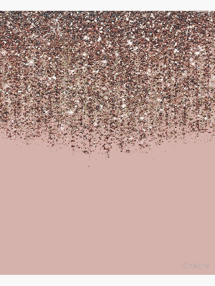Blush Pink Rose Gold Bronze Cascading Glitter Canvas Print By Christyne Rose Gold Wallpaper Iphone Gold Wallpaper Iphone Gold Wallpaper Background