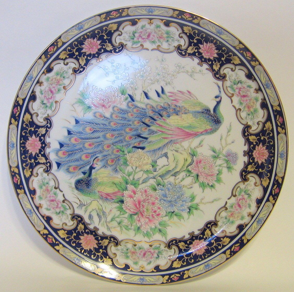 Japanese TOYO Peacock Porcelain Plate Decorative Vintage 1970s 10 1/4 Inch #Japanese # : 4 inch decorative plates - pezcame.com