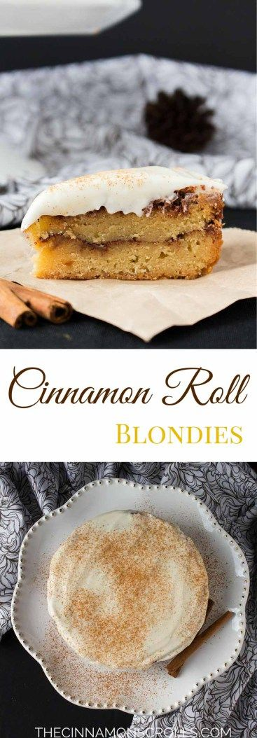 Cinnamon Roll Blondies | thecinnamonscrolls.com @cinnamonscribe