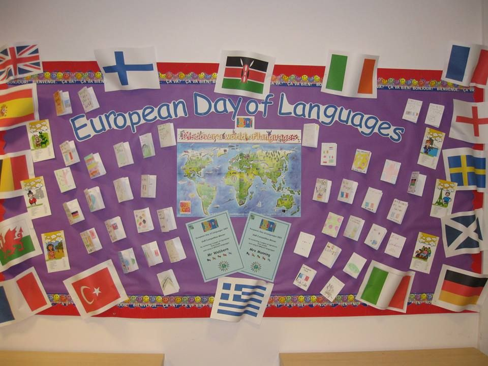 Modern Language Classroom Displays ~ A display for european day of languages september