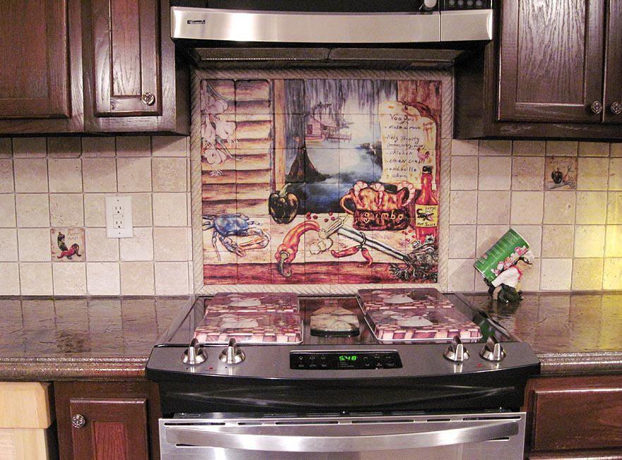 Louisiana Kitchen Tile Mural Backsplash