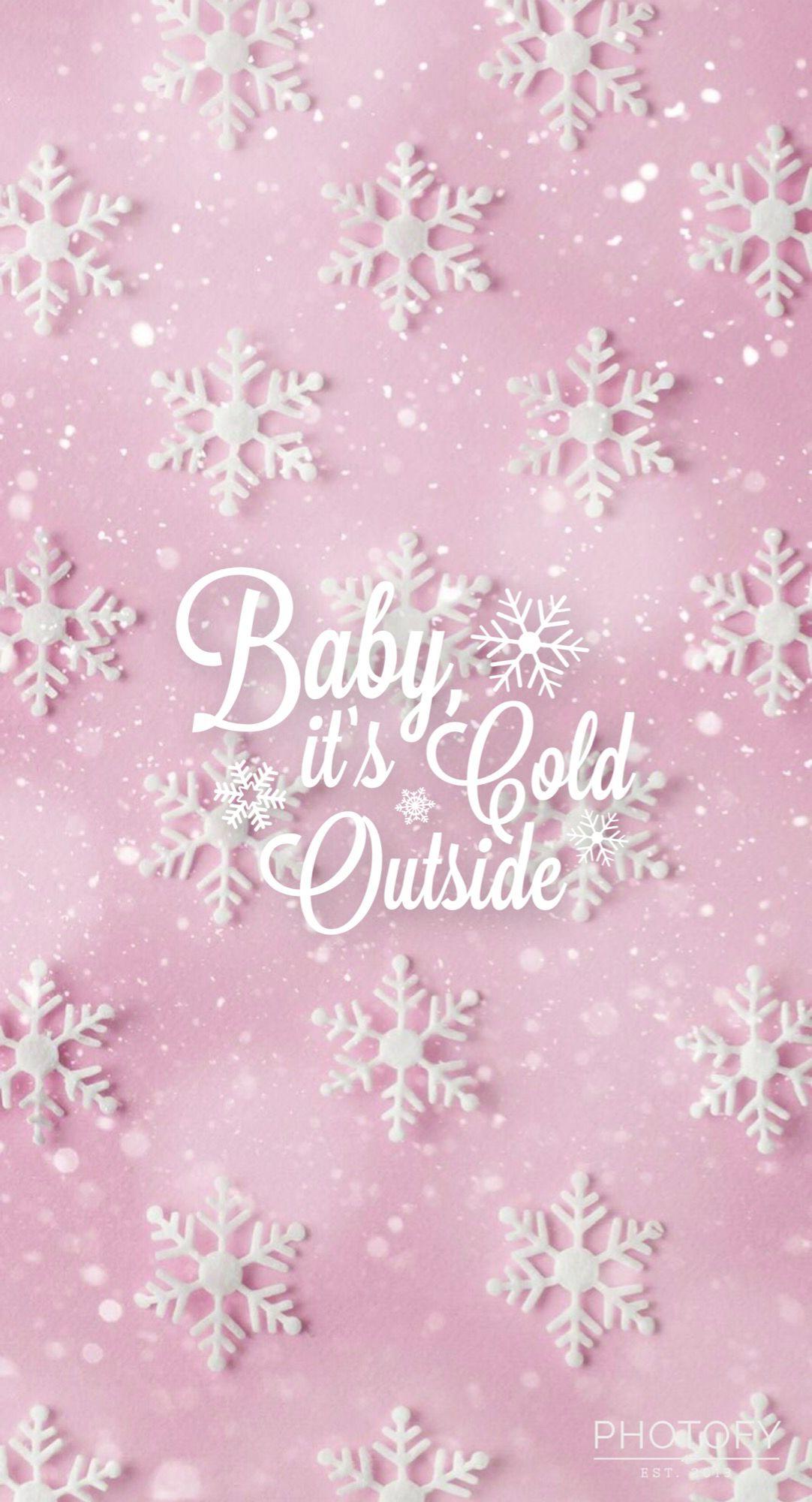 Pink Snowflakes Winter Christmas Phone Wallpaper Wallpaper Iphone Christmas Christmas Wallpaper