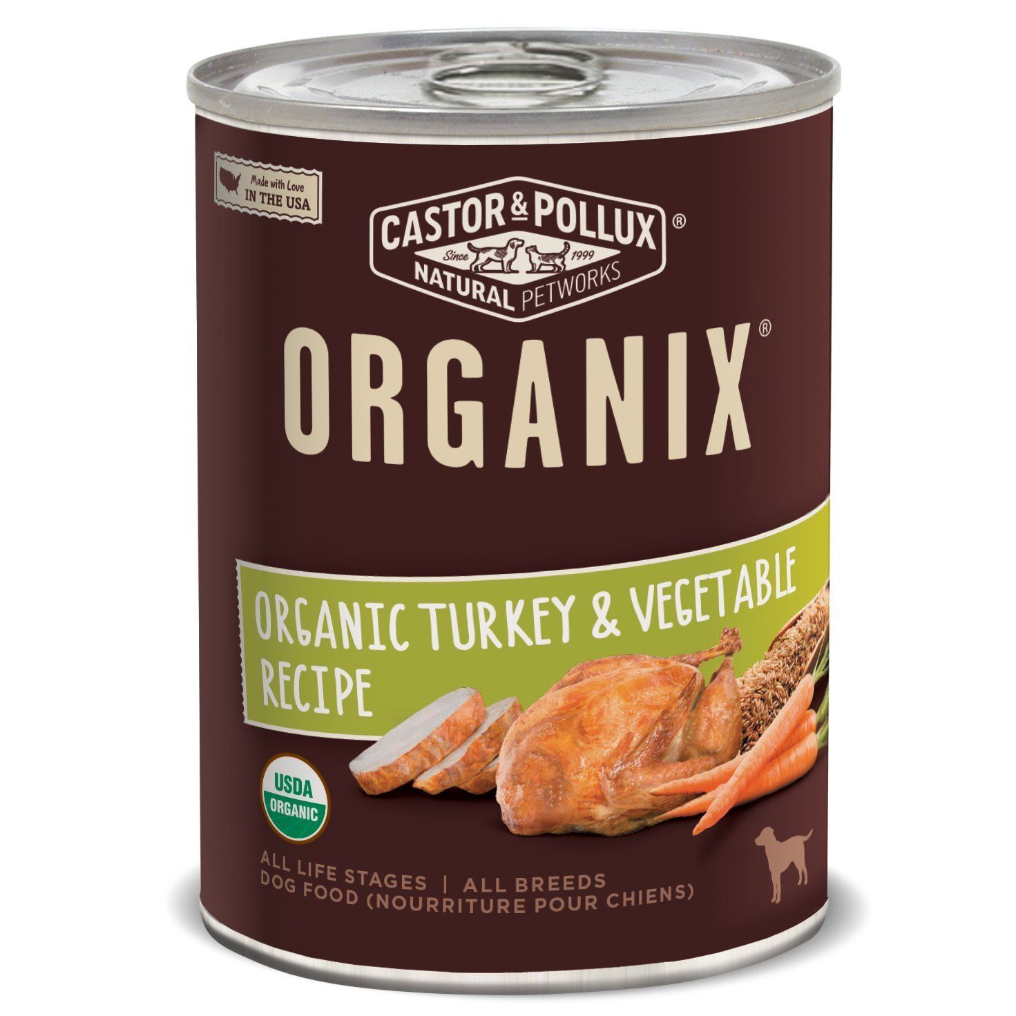 Castor and Pollux Organix Organic Canned Dog Food, 12