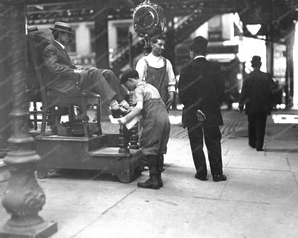 Historical Photos Of White Boys Shining Shoes Of Black Men
