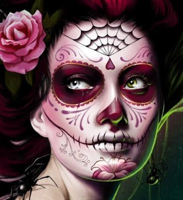 pinkdayofthedeadmakeup inspiration day of the