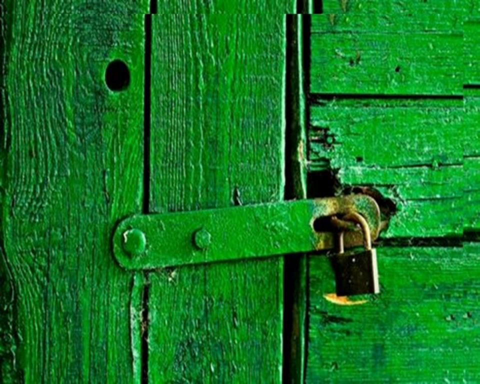 Who sang behind the green door