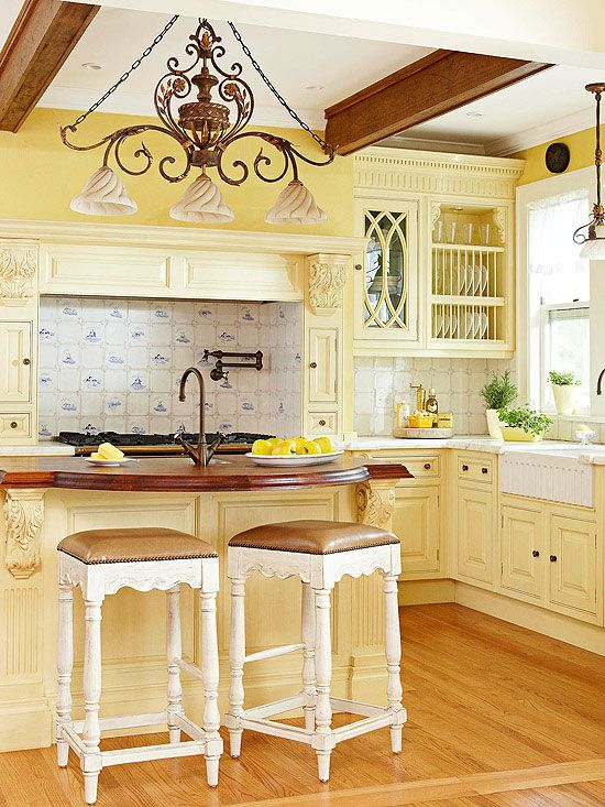 Yellow Painted Kitchens small but sassy these are the counter stools i want for my island