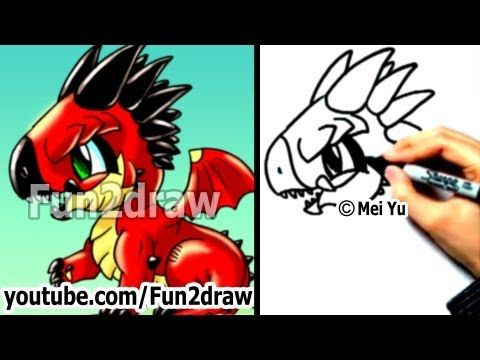 How to Draw a Dragon - Fun Things to Draw - Art Lessons - Fun2draw - YouTube