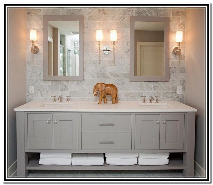 Light Grey Bathroom Vanity  mbath Pinterest bathroom