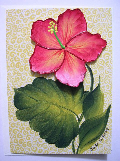 The Botanical Collection Note Card - Red Hibiscus Note cards - collection note