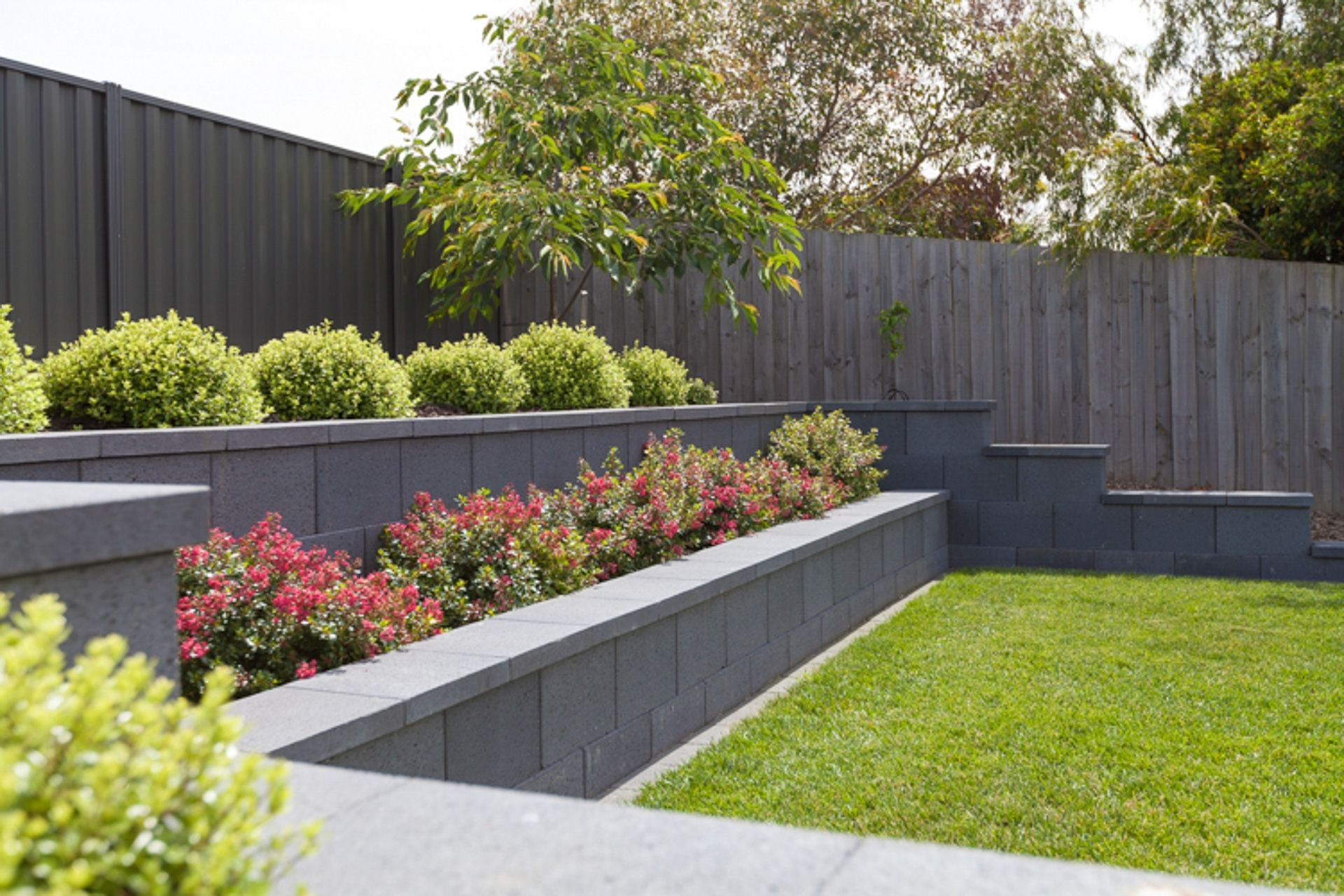 Walls By Natural Path Landscaping Front Yard Landscaping Landscaping Retaining Walls Sloped Garden