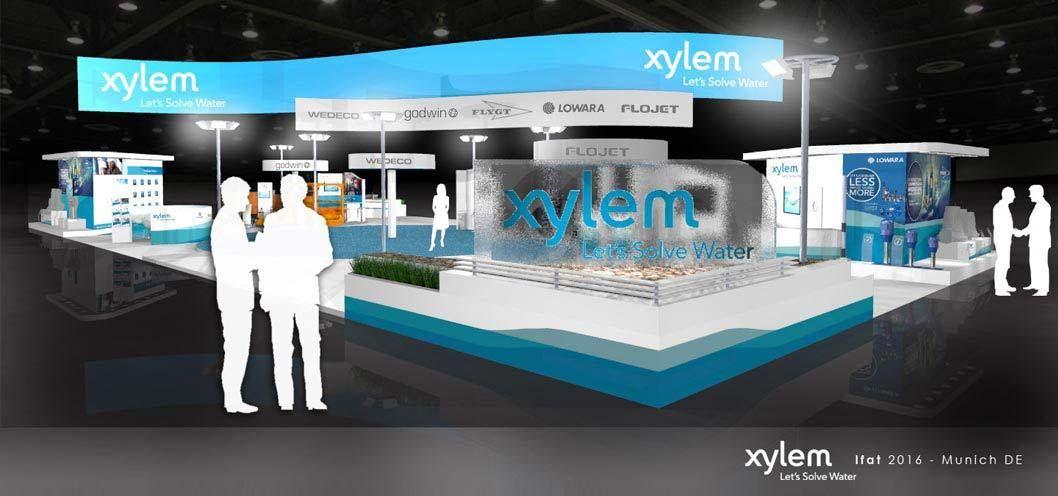 Exhibition Stand Builders In Munich : Exhibition stand design xylem water ifat munich exhibition