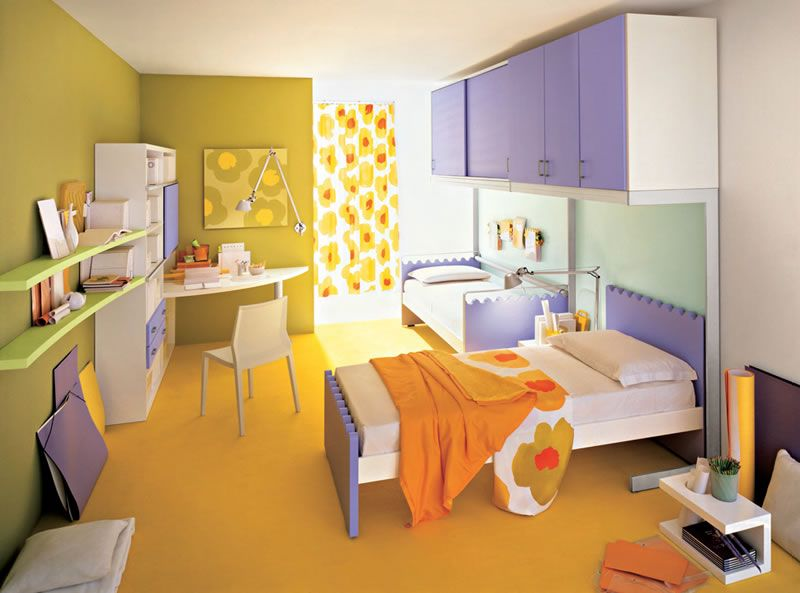 Split Complementary Colors Room
