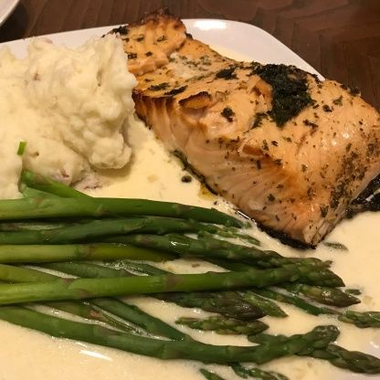 Cheesecake Factory Herb Crusted Salmon #cheesecakefactoryrecipes